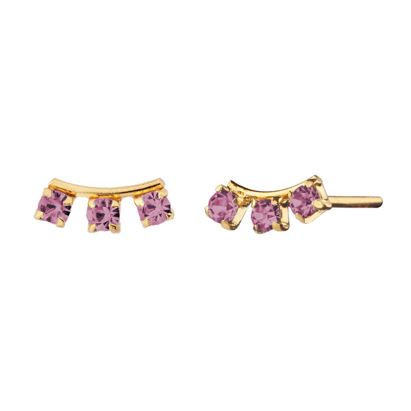 PENDIENTES ELVIRA PURPLE GOLD