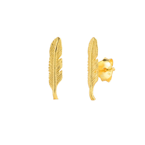 PENDIENTES FEATHER GOLD