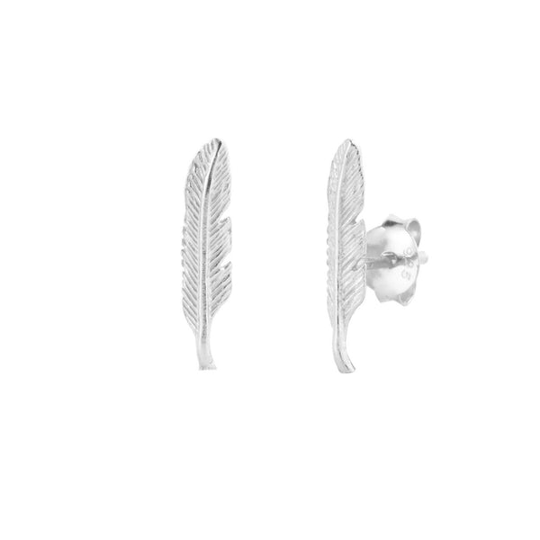 PENDIENTES FEATHER SILVER