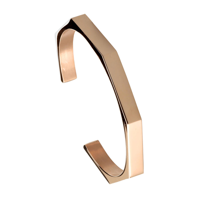 PULSERA GEOMETRIC ROSE GOLD