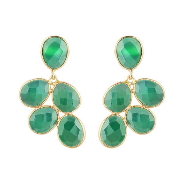 PENDIENTES GRAPES GREEN