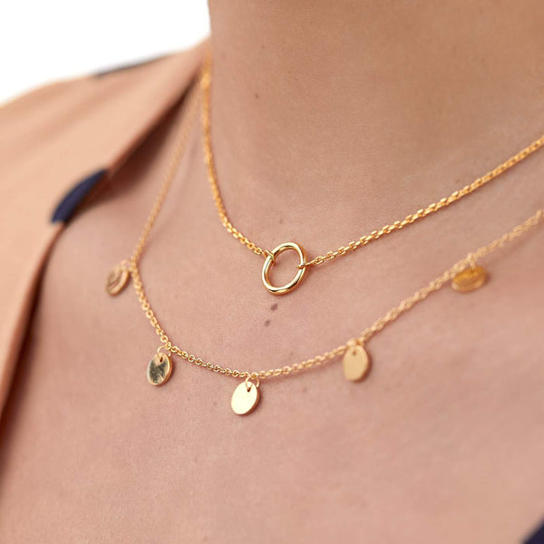 COLLAR CIRCLE MINI GOLD