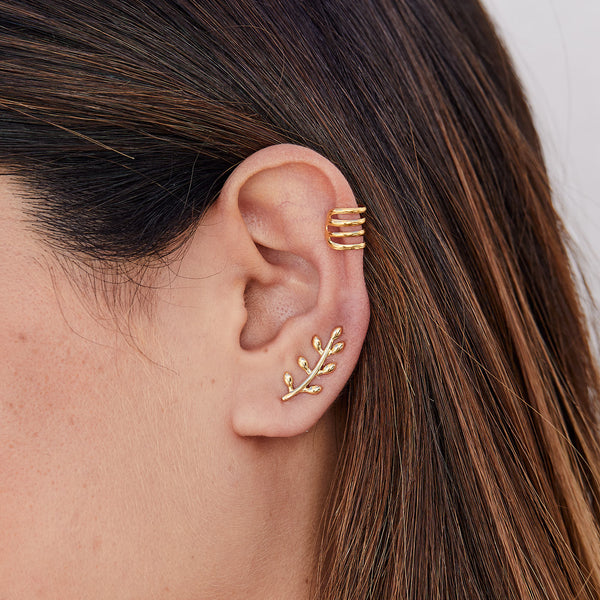 PENDIENTES LEAVES MAXI GOLD