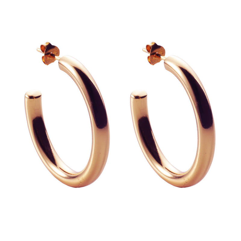 PENDIENTES HALO MAXI L ROSE GOLD