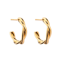 PENDIENTES HALO TWIST GOLD