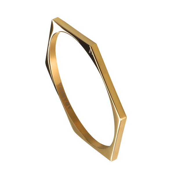 PULSERA HEXAGON GOLD