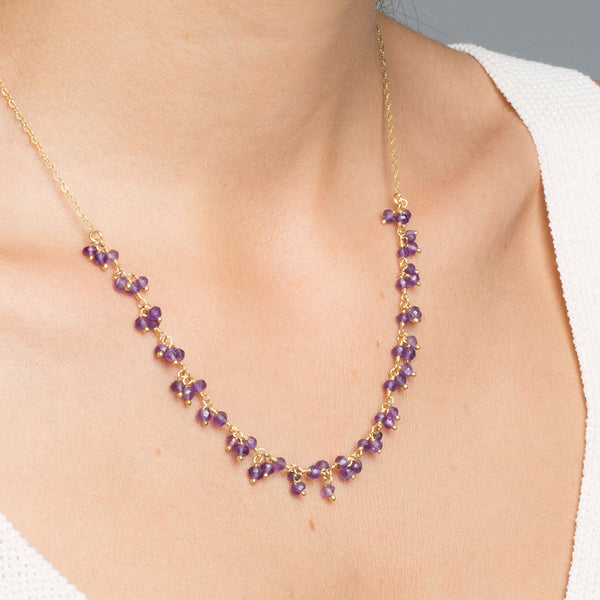 COLLAR HOLLY AMETHYST