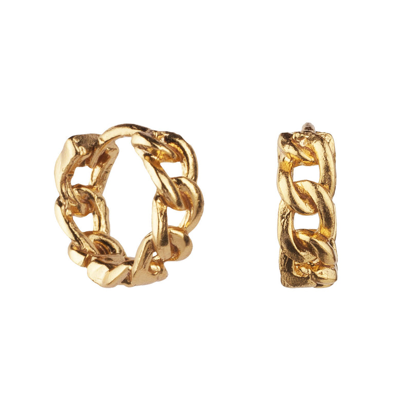 PENDIENTES HOOPS CHAIN GOLD
