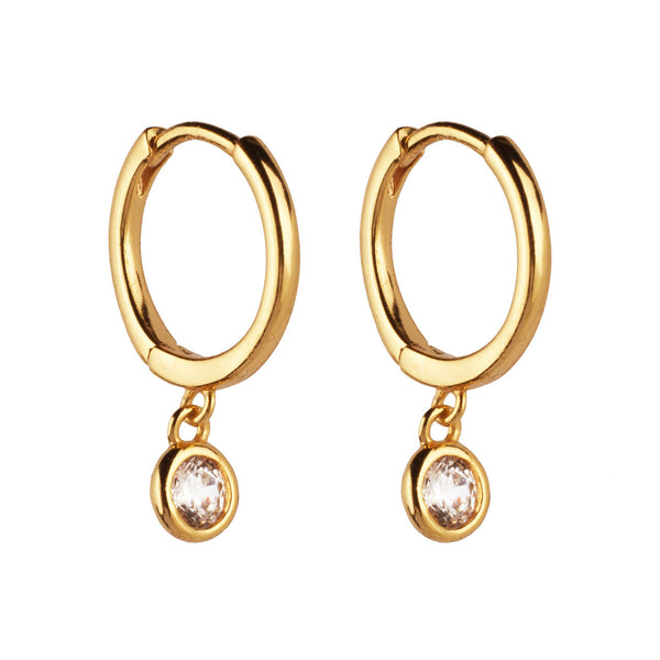 PENDIENTES HOOPS PRINCESS GOLD