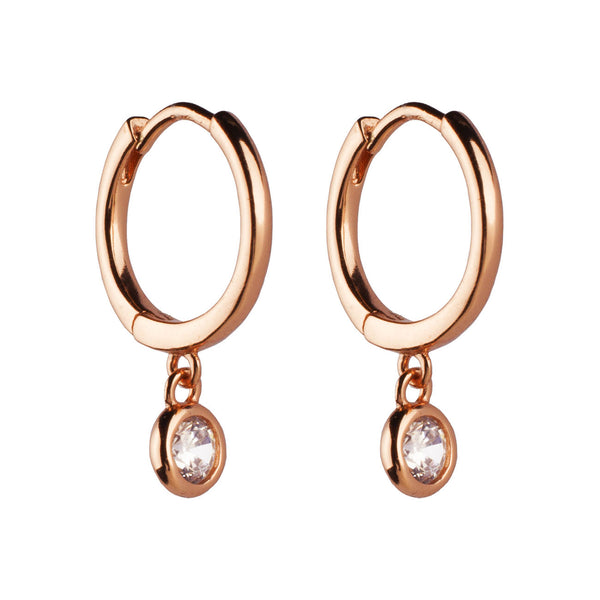 PENDIENTES HOOPS PRINCESS ROSE GOLD
