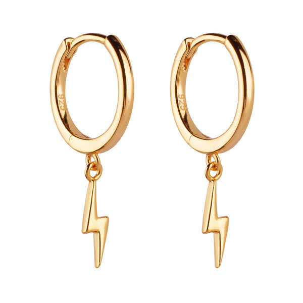 PENDIENTES HOOPS RAY GOLD