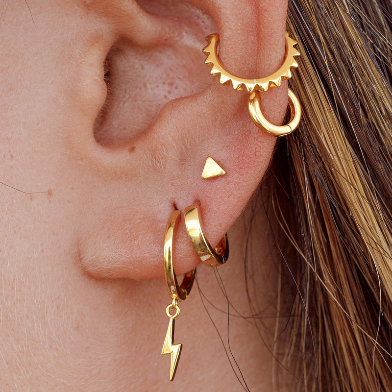 PENDIENTES TRIANGLE GOLD