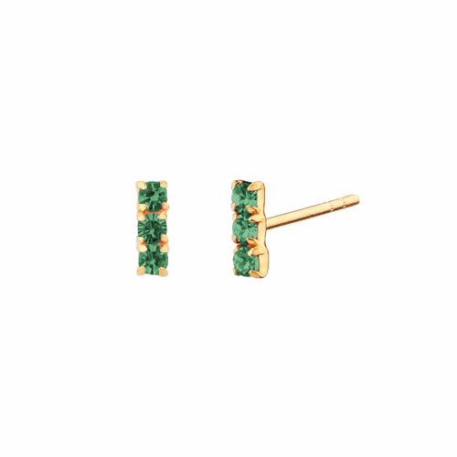 PENDIENTES HORIZON GREEN GOLD