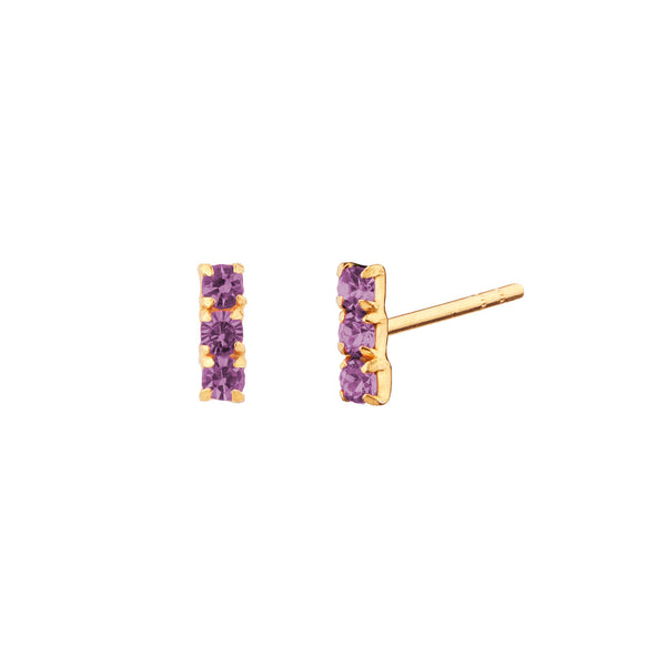 PENDIENTES HORIZON PURPLE GOLD