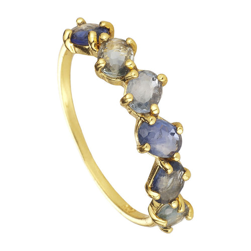 ANILLO SAPHIRE BLUE GOLD