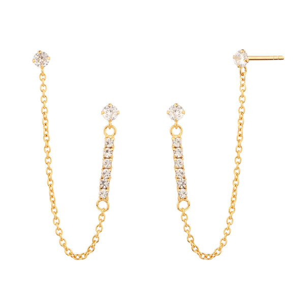 PENDIENTES LIGHT CHAIN GOLD