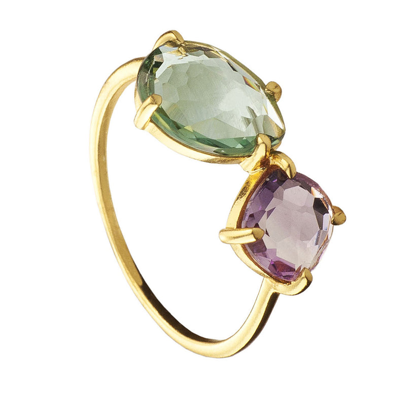 ANILLO MIDNIGHT AMETHYST GOLD
