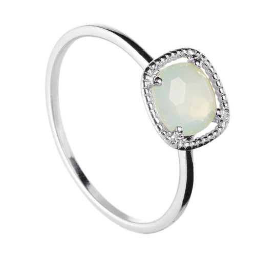 ANILLO NOOR CHALCEDONY SILVER
