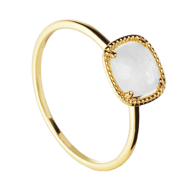 ANILLO NOOR MOONSTONE GOLD