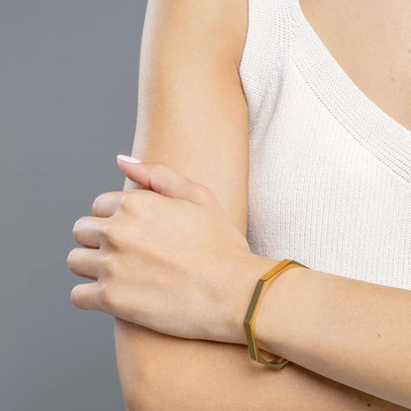PULSERA GEOMETRIC GOLD