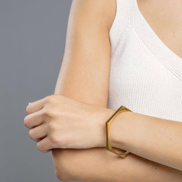 PULSERA HEXAGON ROSE GOLD