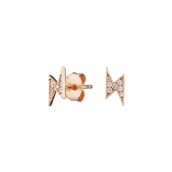 PENDIENTES RAY BRIGHT ROSE GOLD