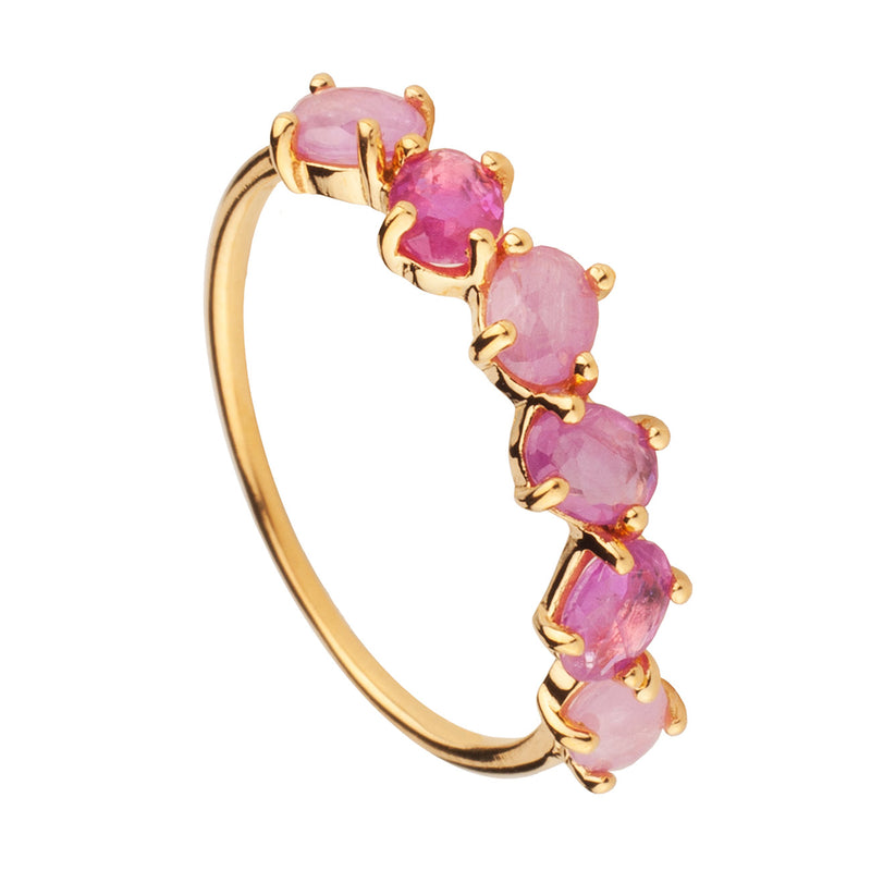 ANILLO SAPHIRE PINK GOLD