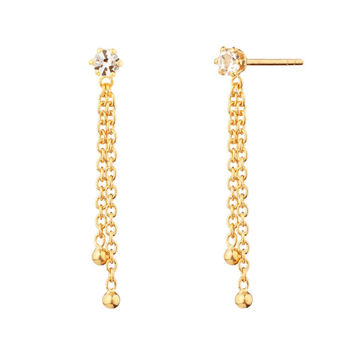 PENDIENTES SLEEK CHAIN GOLD