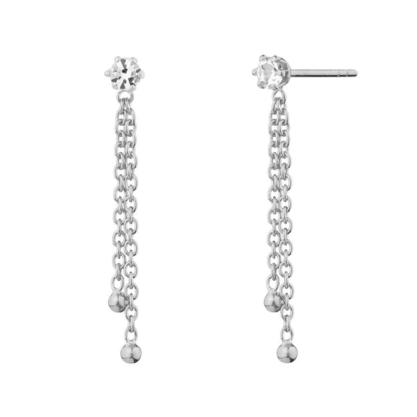 PENDIENTES SLEEK CHAIN SILVER