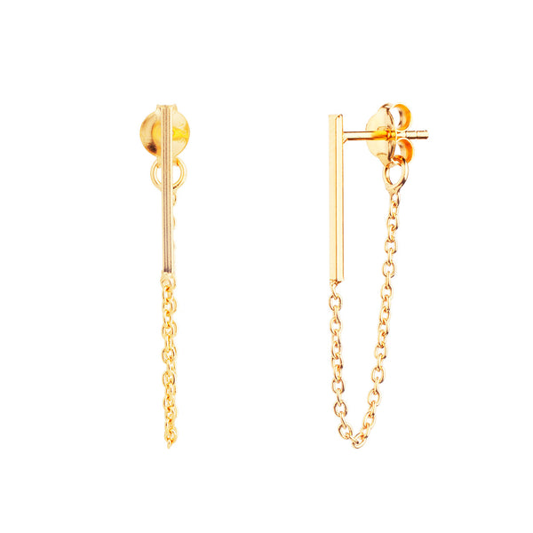 PENDIENTES STICK CHAIN GOLD