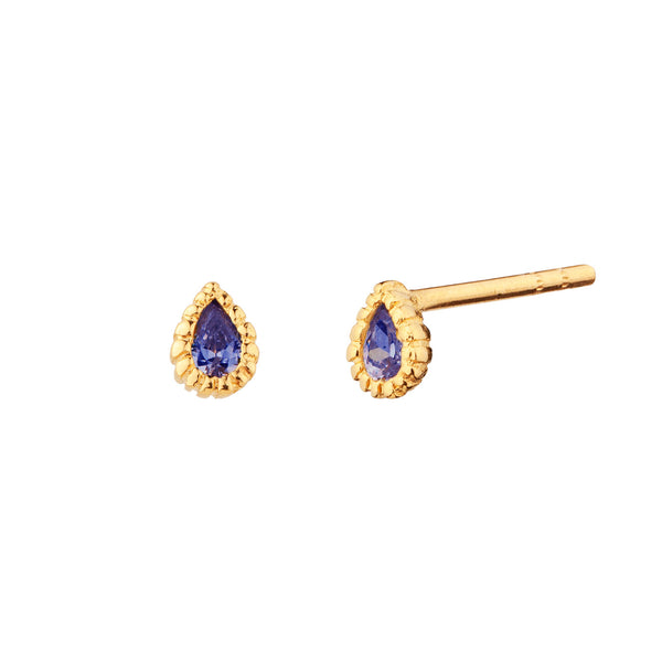 PENDIENTES TEARS DEEPBLUE GOLD
