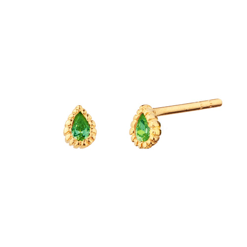 PENDIENTES TEARS GREEN GOLD