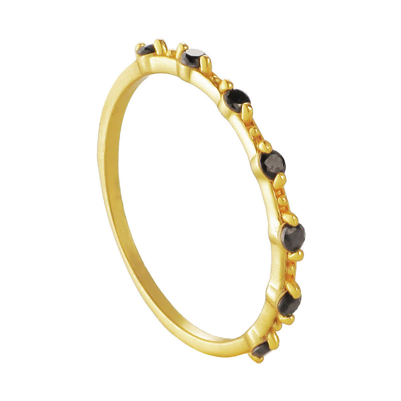 ANILLO VALENTINA BLACK GOLD