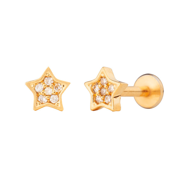 PENDIENTE PIERCING STAR BRIGHT GOLD