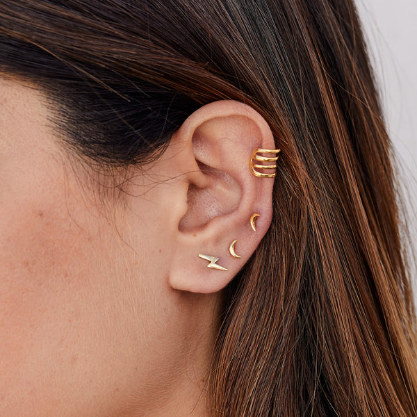 PENDIENTES MOON MINI GOLD
