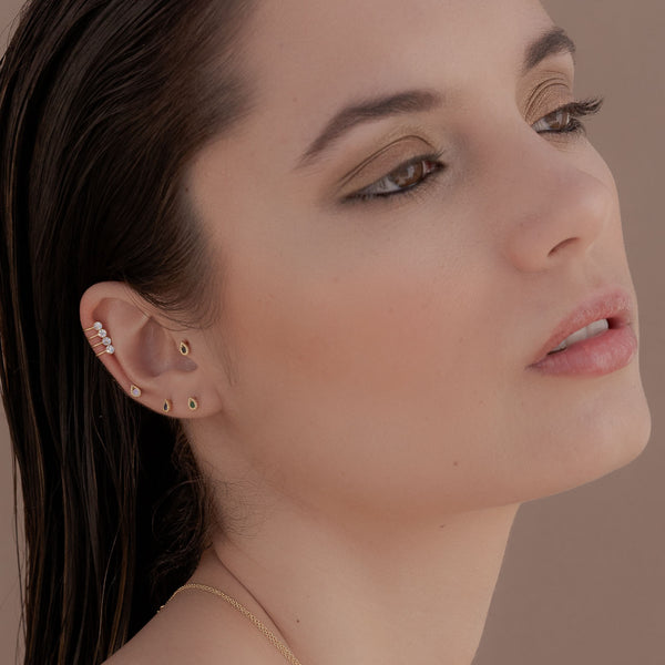PENDIENTES TEARS BLACK GOLD