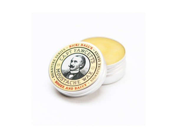 Captain Fawcett Ricki Hall Booze and Baccy Moustache Wax 15ml