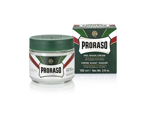 Proraso Refresh Pre-shave Cream Tub Eucalyptus & Menthol 100ml