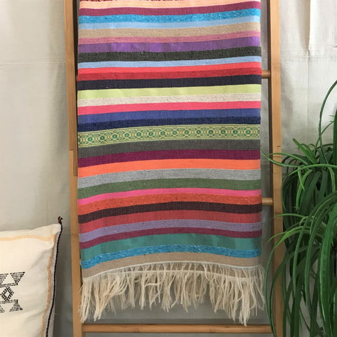 STRIPED MOROCCAN SILK BLANKET