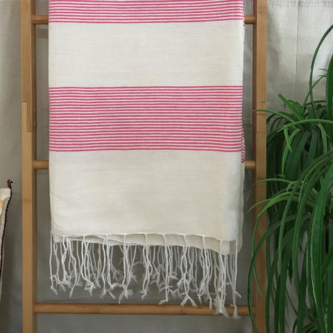 MOROCCAN SUMMER PINK COTTON THROW
