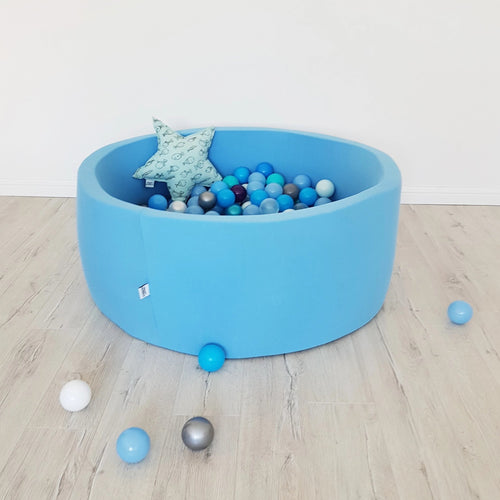 Big blue ball pit with balls