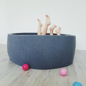 Big XL dark grey ball pit 110x40cm with 360 balls