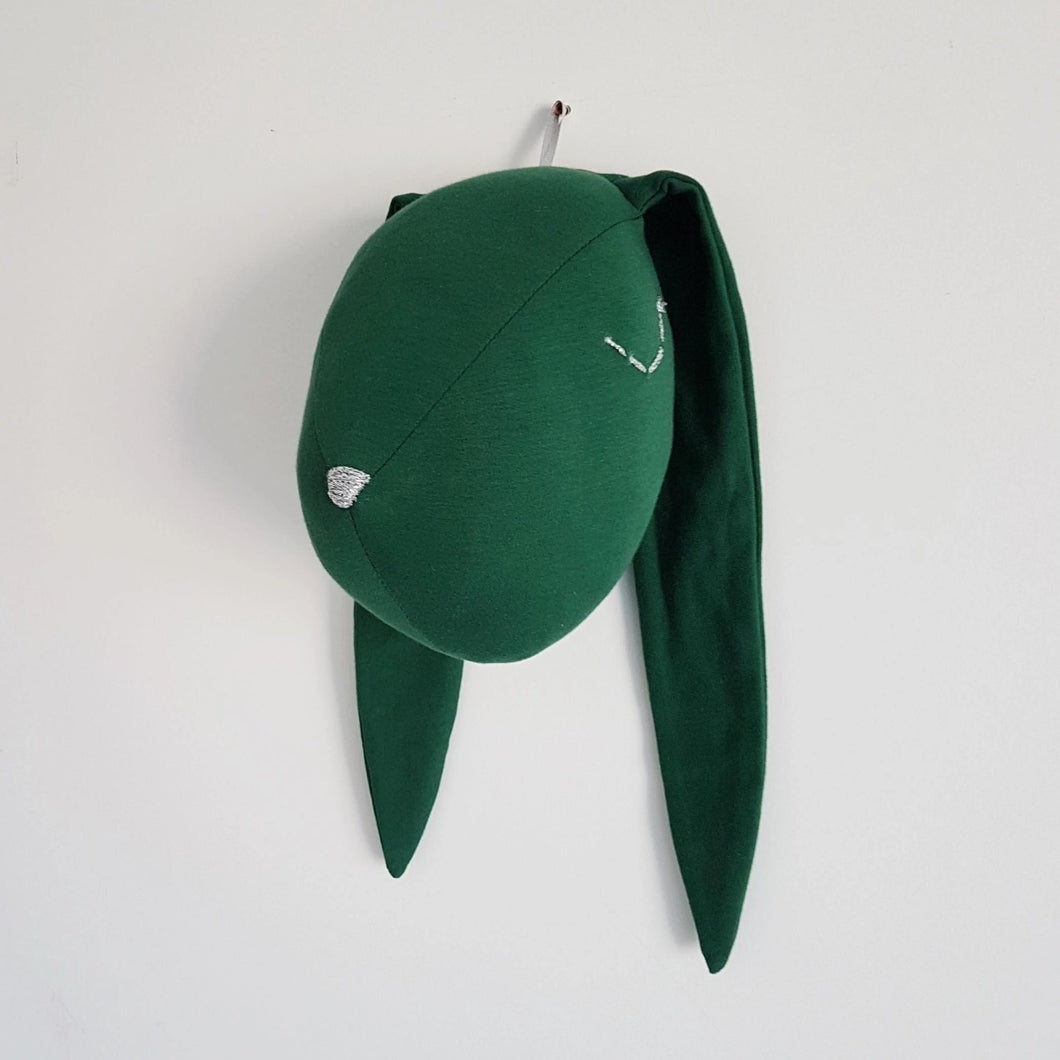 Green bunny head - animal head decor