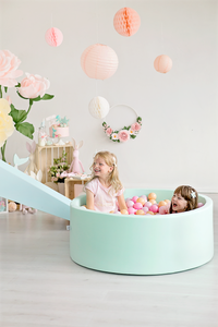 Handmade silky soft XL indoor mint ball pit 110x40cm with 360 balls