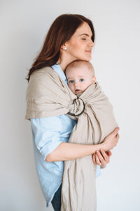 Beige color, linen ring sling