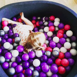 BIG XL black ball pit 110x40cm with 360 balls