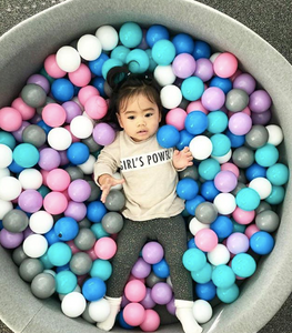 Big dark grey ball pit with balls