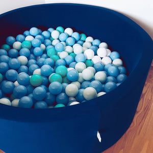 Big black ball pit with balls