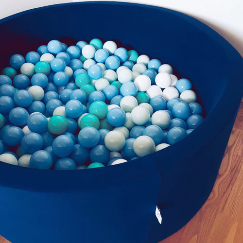 Big navy ball pit with balls