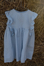 Light blue cotton girl dress
